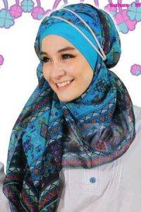 Clover Clothing Pashmina Tribal - Blue (Toko Jilbab dan Busana Muslimah Terbaru)