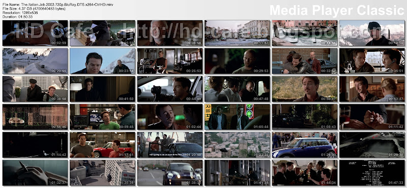 The Italian Job 2003 video thumbnails