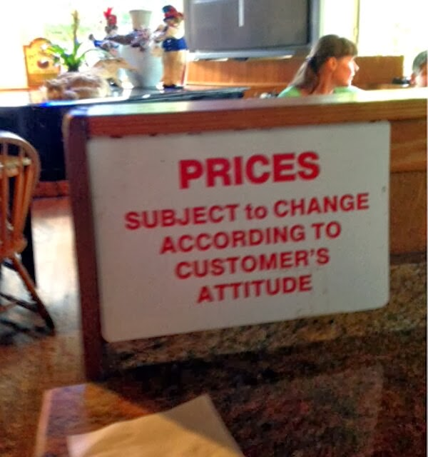 prices subject to change according to customers attitude