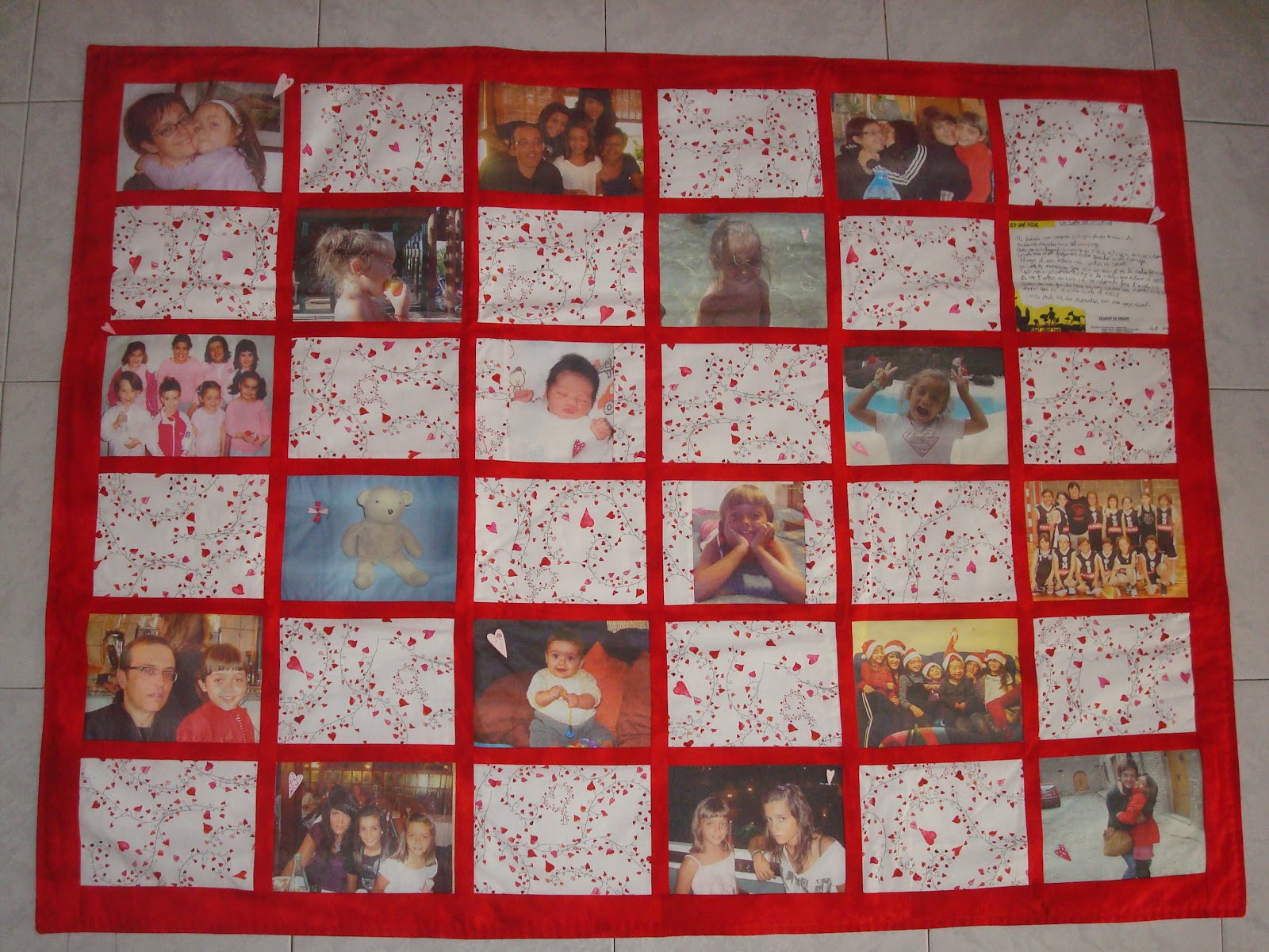 Martona patchwork detalles de comuni n - Como hacer un cuadro con fotos familiares ...