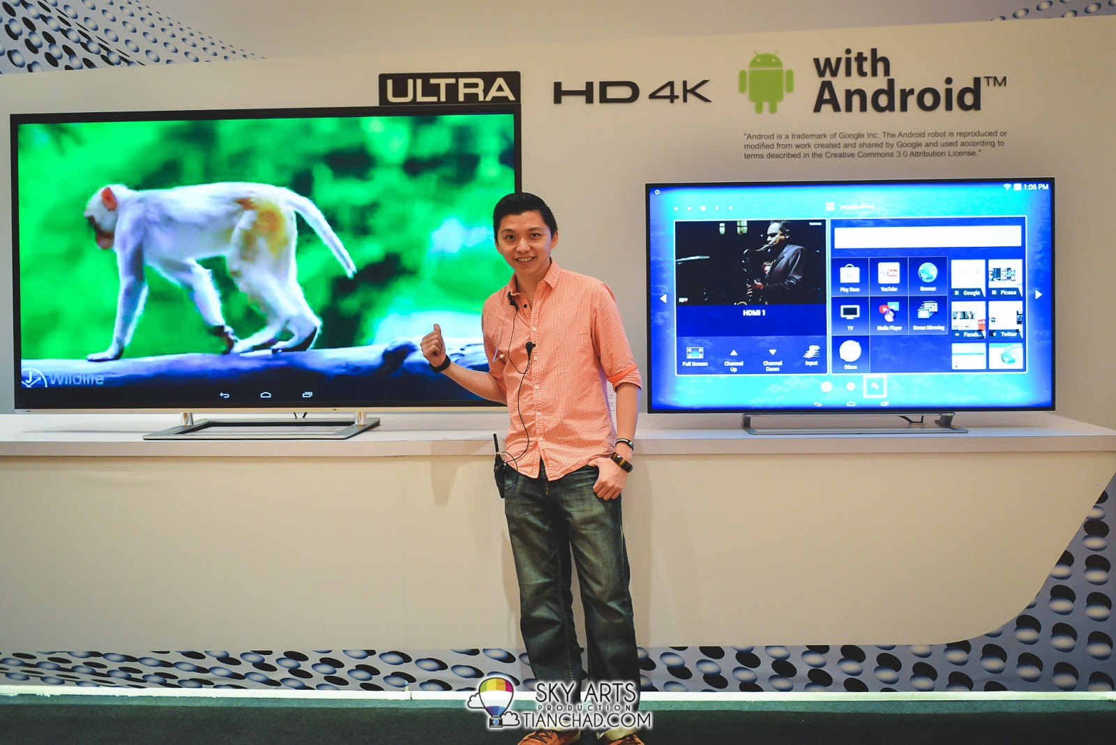 Check out that monkey butt on Toshiba 4K TV Screen haha