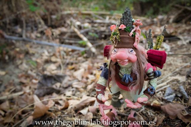 ooak fantasy doll faerie traveller goblin