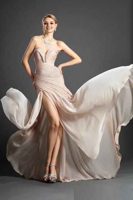 2014 Yırtmaçlı Abiye Modelleri