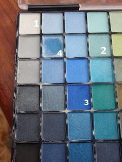 paleta de sombras azules