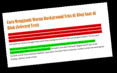 cara mengganti warna background teksdi blog saat di blok (selected text)