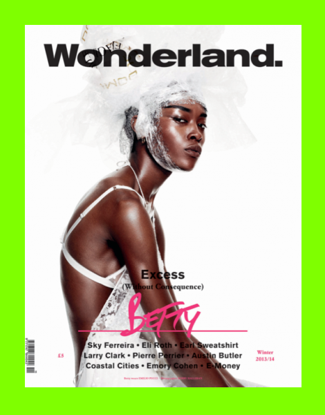 Betty covers Wonderland Magazine Winter 2013/2014