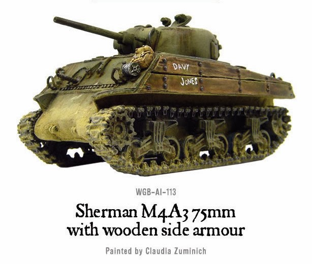 SHERMAN M4A3 with WOODEN ARMOR