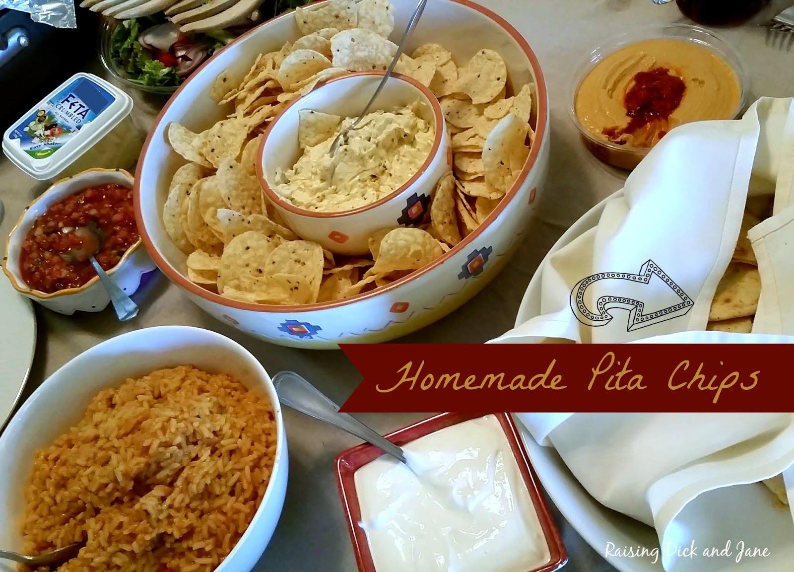 #ad #MortonSaltGirl100 Homemade Salted Pita Chips