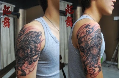 Qilin tattoo design on the arm