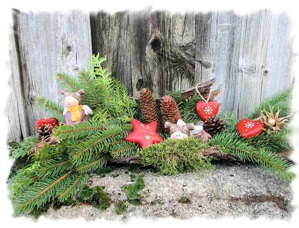 Kr nelinchens hobbys weihnachtliches wurzelwerk - Weihnachtliches dekorieren ...