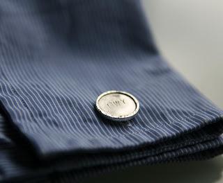 Personalised monogrammed silver cufflinks