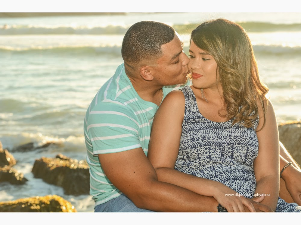 DK Photography LASTWEB-006 Robyn & Angelo's Engagement Shoot on Llandudno Beach { Windhoek to Cape Town }  Cape Town Wedding photographer