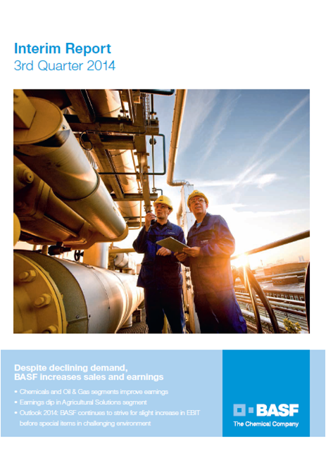 BASF, Q3, 2014, front page