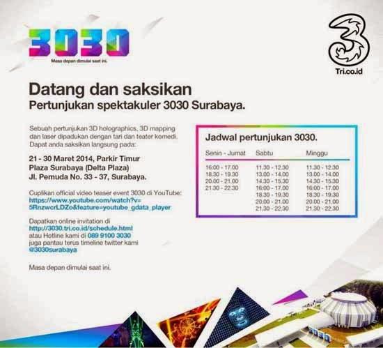 Info, Jadwal, dan Tiket 3030 Surabaya