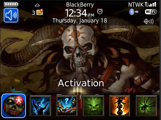 Theme Name : Blackberry Bold 9700 Free Diablo 3 Witch Doctor Theme
