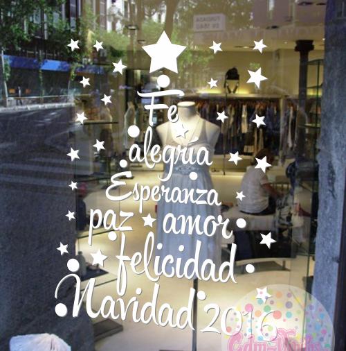 Vinilos vidriera navidad fiestas fin de a o nuevo 2016 - Murales decorativos de navidad ...