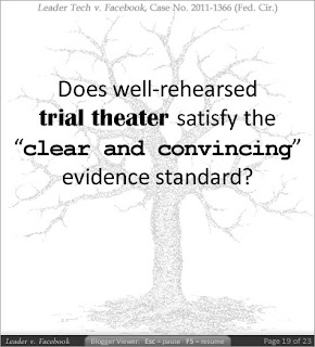 Does well-rehearsed trial theater satisfy the 'clear and convincing' evidence standard?