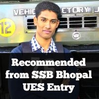 Recommended from SSB Bhopal UES Entry