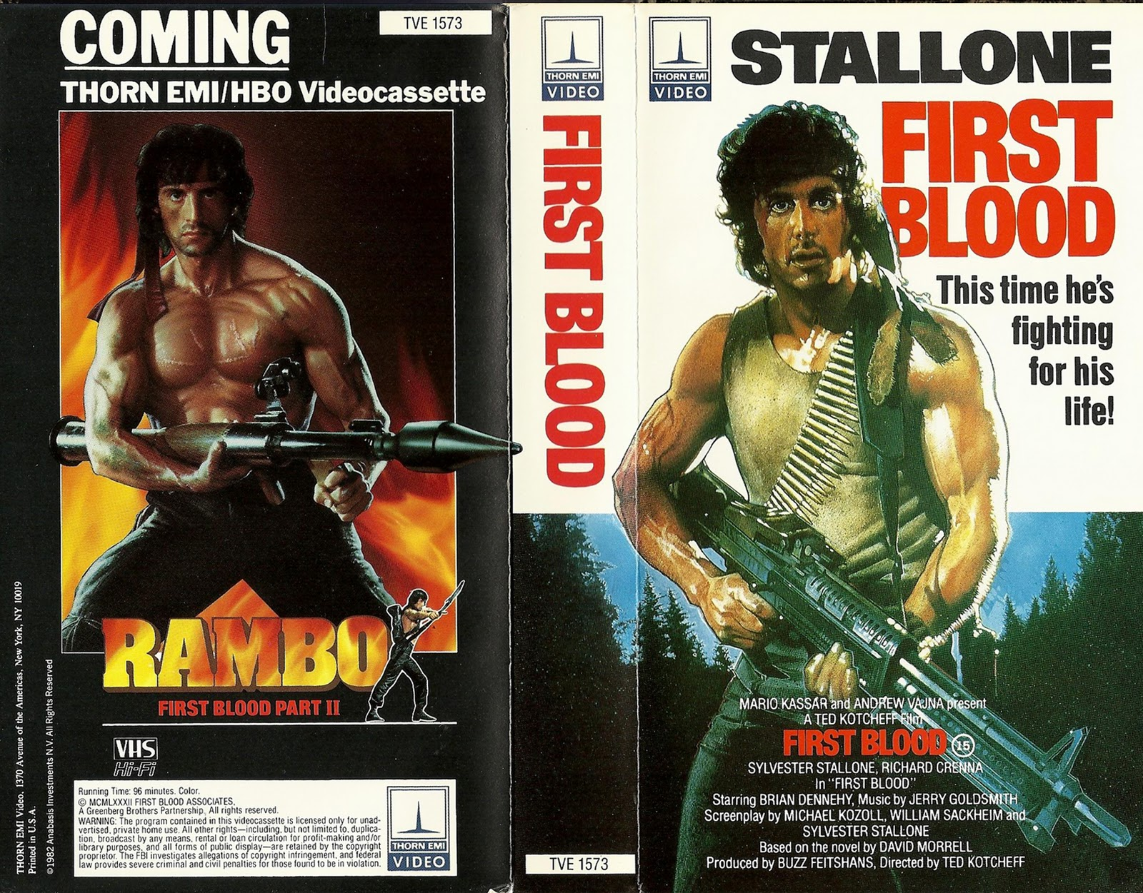 robotGEEKu0026#39;S Cult Cinema: VHS Cover Of The Day - First Blood