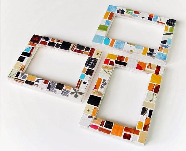 Środowe Inspiracje Magia mozaiki insprujące blogi handmade ramka mozaika