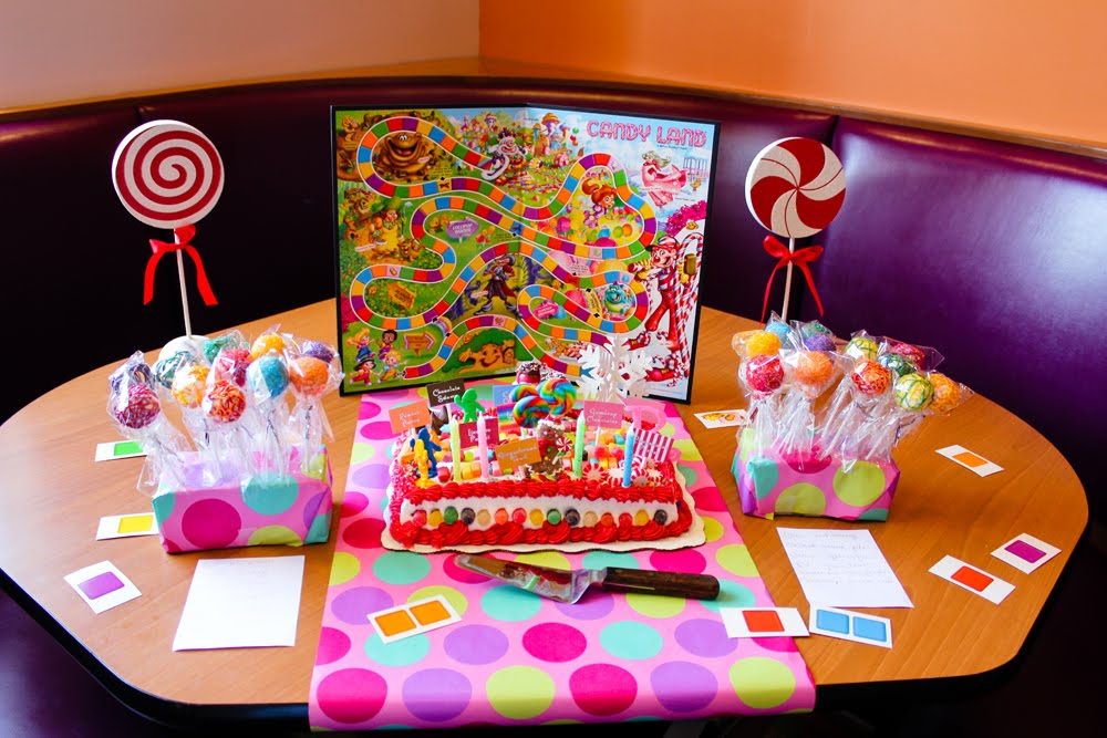 A day in the life of a supermom ryen 39 s 3rd candyland birthday party - Candyland party table decorations ...
