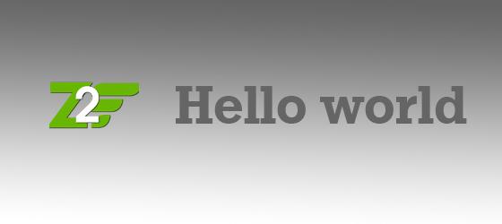 Zend Framework 2 Hello world