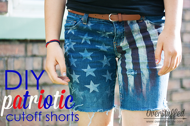 These adorable patriotic cutoff shorts were so easy to make and much less expensive than their counterparts in the store!