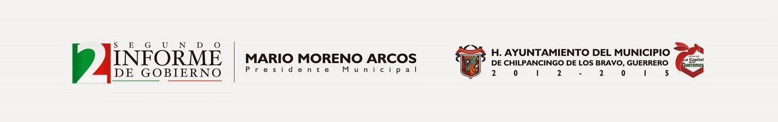 MARIO MORENO ARCOS, SEGUNDO INFORME DE GOBIERNO