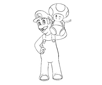 #7 Toad Coloring Page