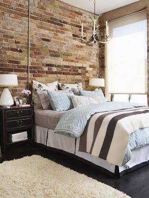 paredes de dormitorio con piedras