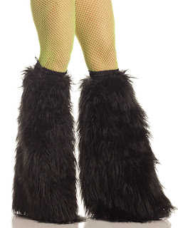 Black Fur Boot Covers viktor viktoria