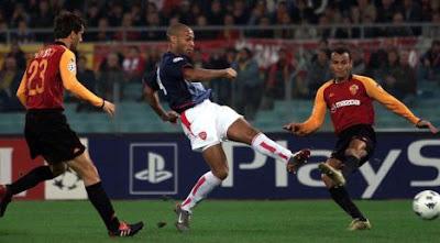thierry henry nella gara contro la Roma