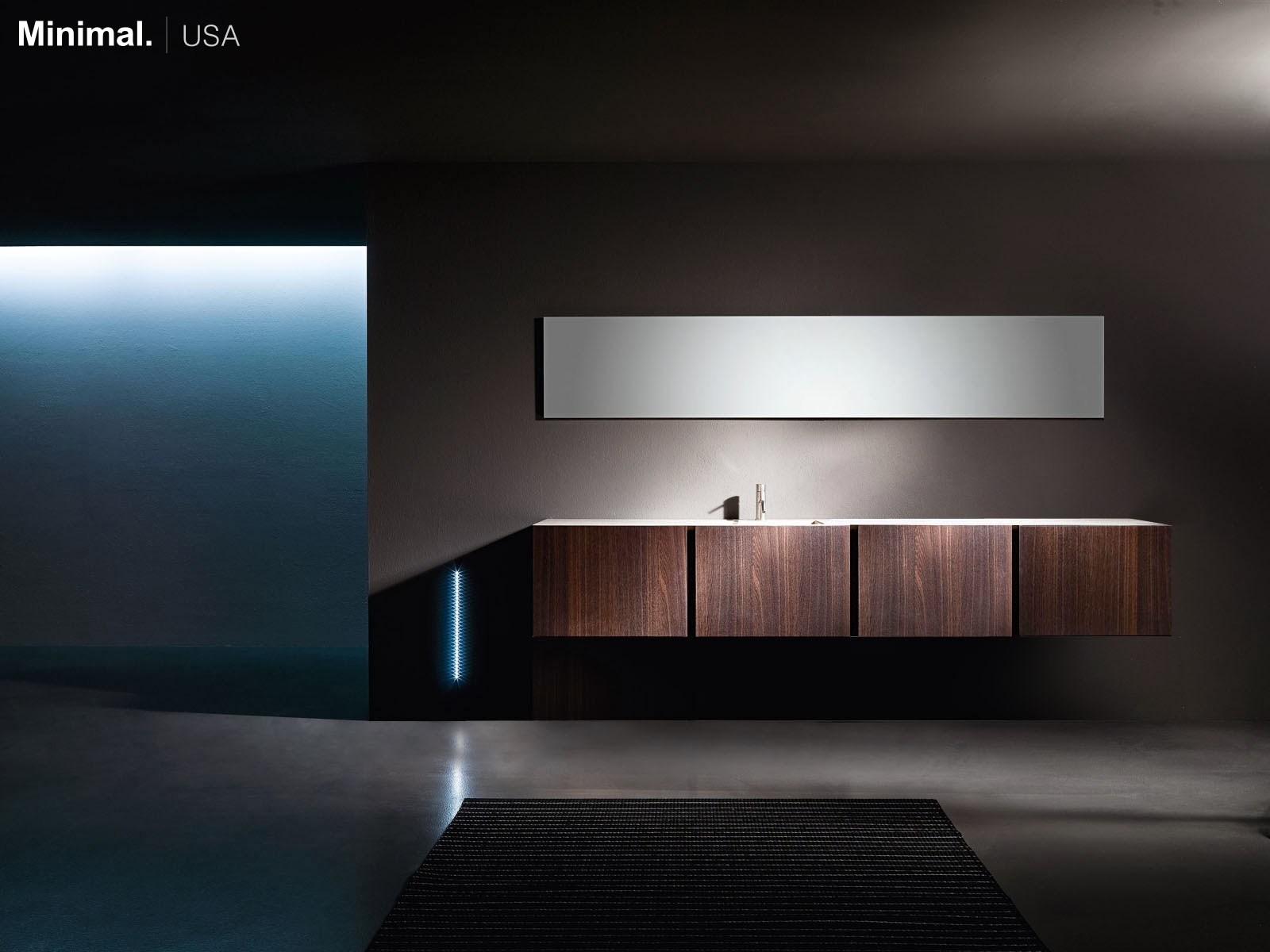 Minimal USA Contemporary Bespoke UNITS Bathroom