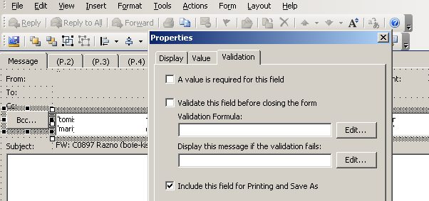 how to add bcc in outlook 2003