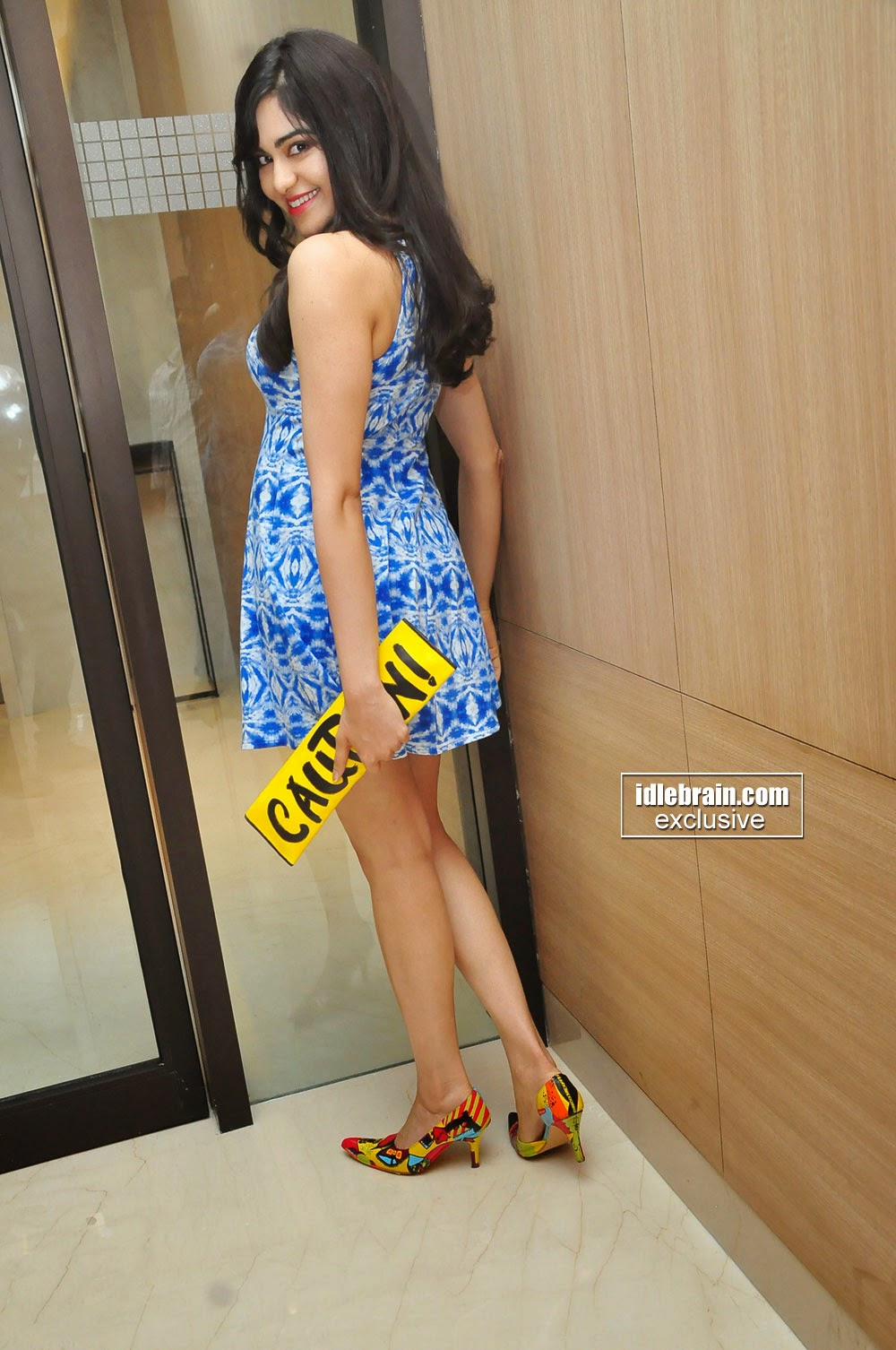 Adah Sharma blue back
