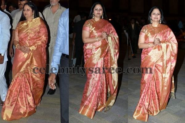Jayasudha Baby Pink Benaras Saree