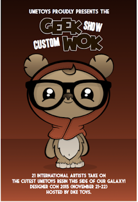 UME Toys & DKE Toys present a Custom GeekWok Group Art Show at DCon 2015!