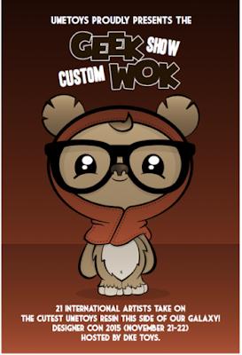 UME Toys & DKE Toys present a Custom GeekWok Group Art Show at DCon 2015!
