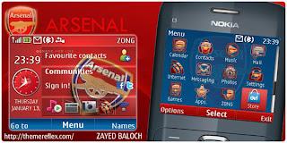 arsenal c3 v2 theme by zb Download Tema Nokia C3 Gratis