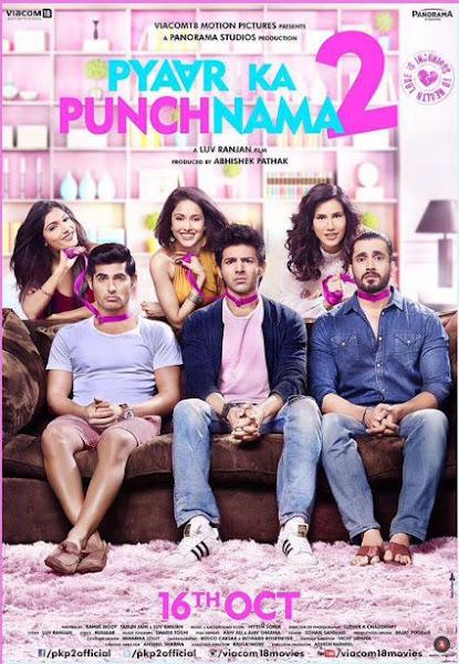 Poster Of Pyaar Ka Punchnama 2 (2016) 720p Hindi HDRip Full Movie Download