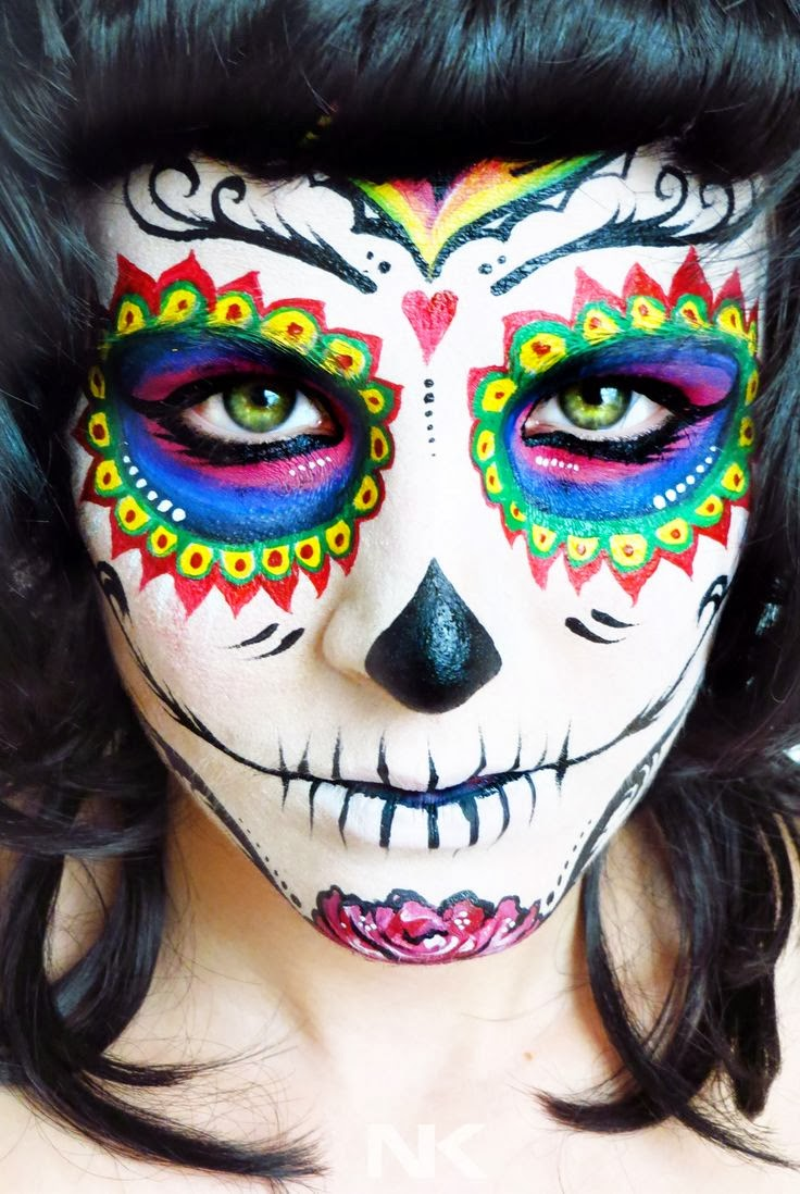 Sugar Skull Makeup Half Face Male Images & Pictures - Becuo