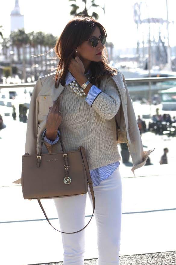 Maru00eda Cielo Camisa y sweater un look casual