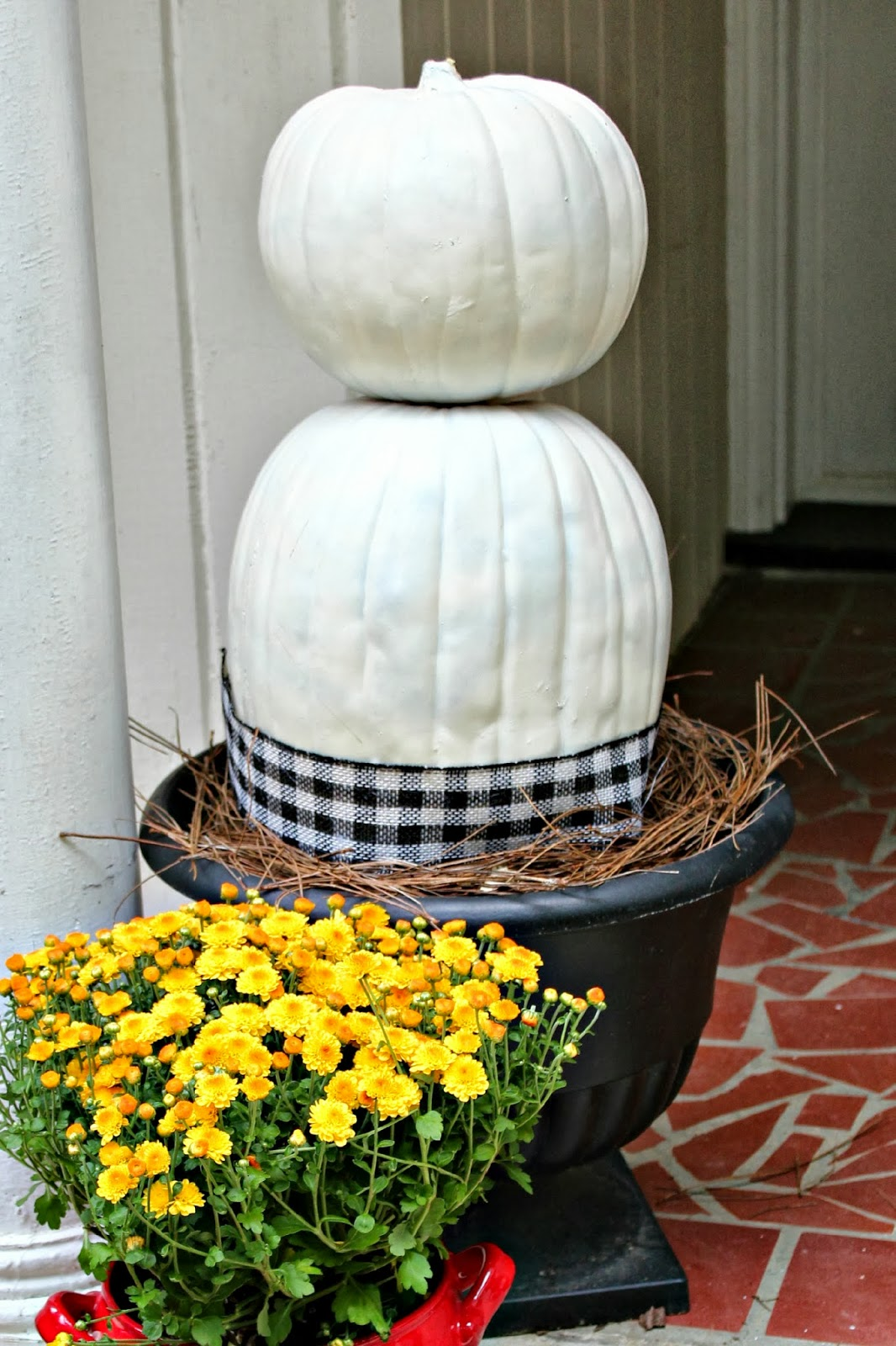 Hello Fall Front Porch Pumpkin Topiaries Southern