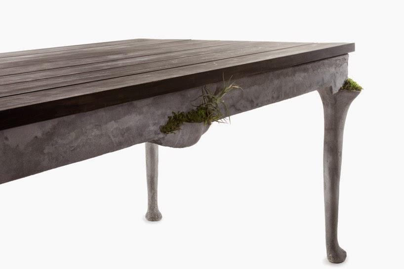 Muebles Escultoricos con Maceteros Incluidos en la Estructura