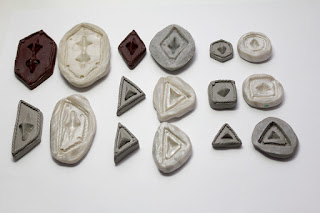 Polymer clay molds for the scales of Thorin Oakenshield's scalemail armor costume.