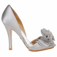 chaussures de mariée argenté