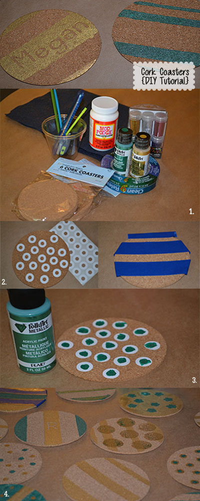 Cork Coaster DIY tutorial | Cordier Event Planning