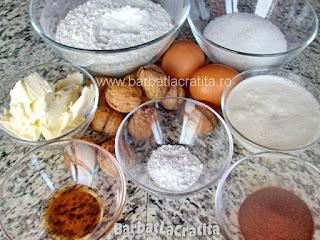 Briose cu nuca si ness - ingredientele necesare retetei