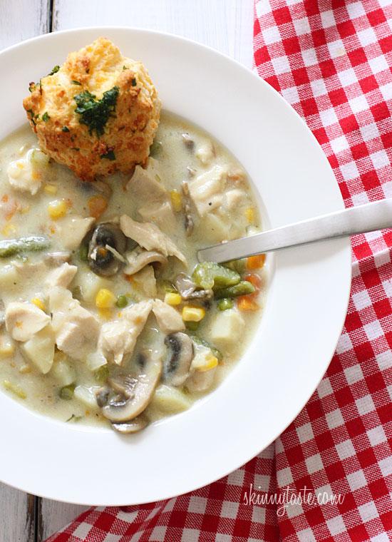 Low fat chicken pot pie soup recipe