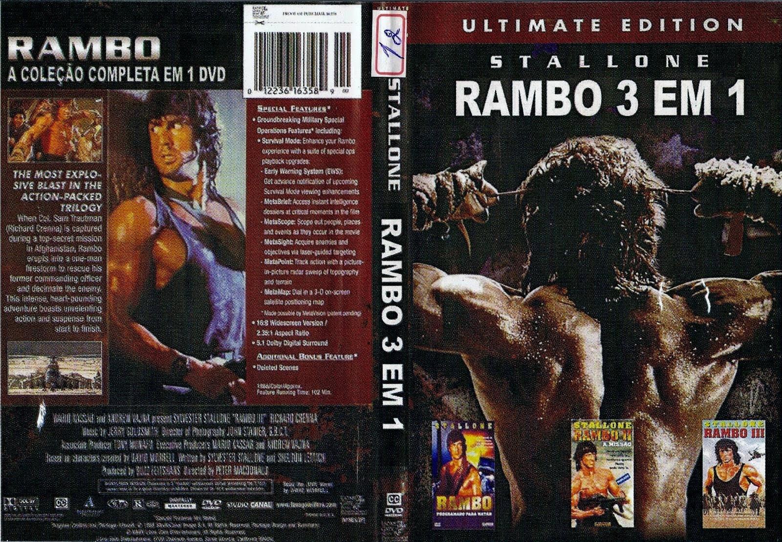 Rambo Trilogia - DVDR